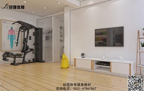 济南某小区建的私家健身房
