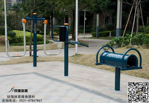 济南西客站附近小区户外健身中心