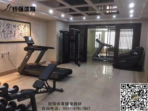 济南某别墅区的私家健身房