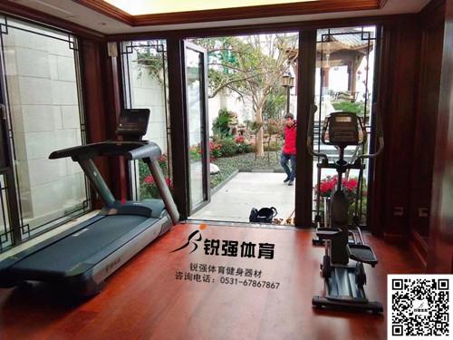 淄博某别墅区私家健身房